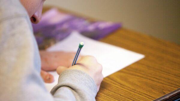 Ученица старших классов на уроке. Иллюстративное фото - Sputnik Узбекистан