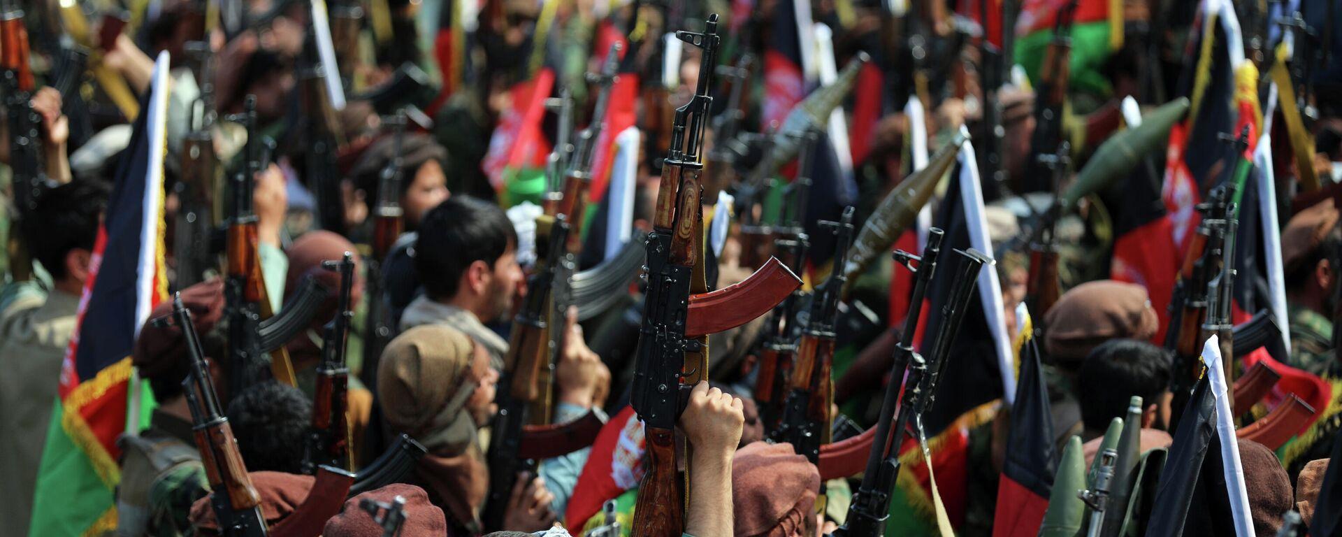 Афганские ополченцы в Кабуле, 23 июня 2021 года - Sputnik Узбекистан, 1920, 06.07.2021
