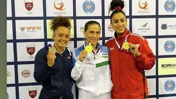 Oksana Chusovitina na Kubke mira po sportivnoy gimnastike v Katare - Sputnik Oʻzbekiston