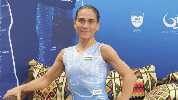 Оксана Чусовитина на Кубке мира по спортивной гимнастике в Катаре - Sputnik Узбекистан