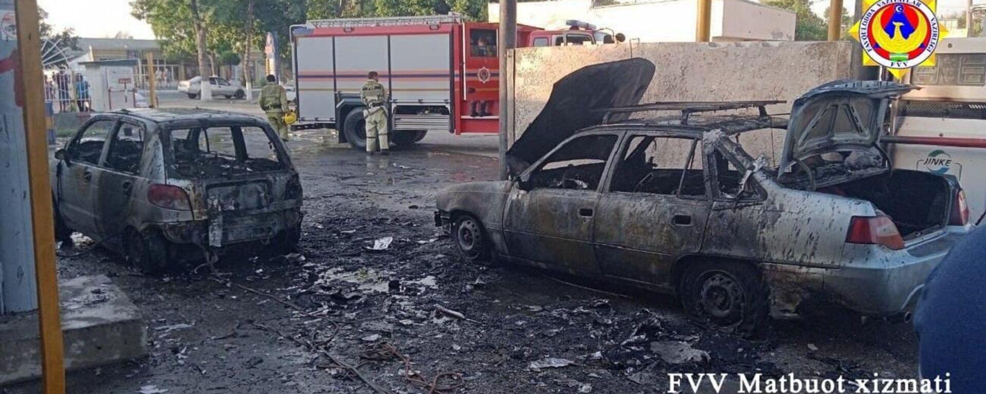 На газозаправочной станции в Джизаке произошёл пожар - Sputnik Ўзбекистон, 1920, 28.06.2021