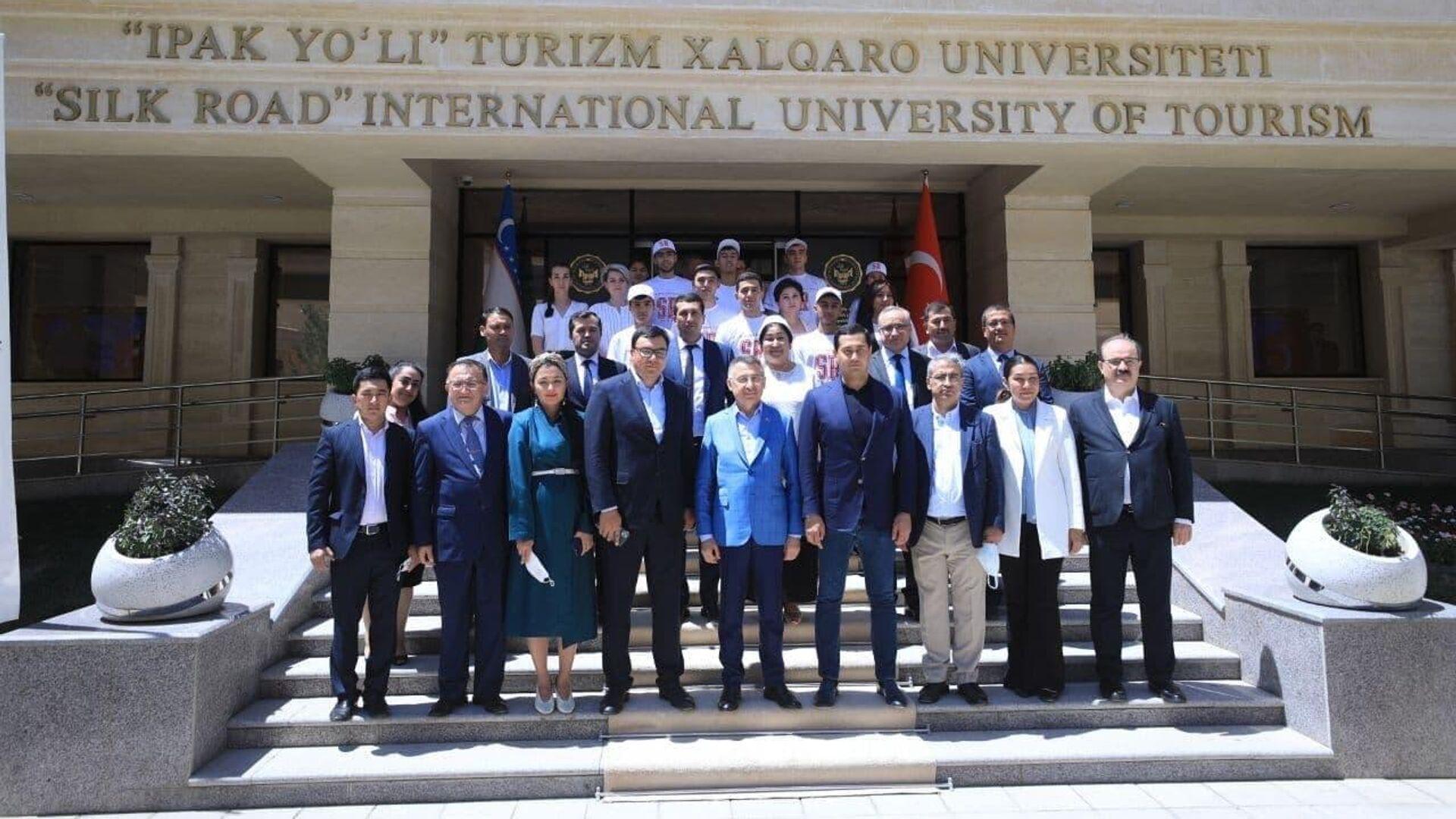 Международный университет туризма Шелковый путь посетил вице-президент Турции - Sputnik Узбекистан, 1920, 30.06.2021