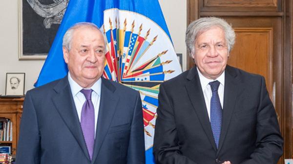 Глава МИД Узбекистана Абдулазиз Камилов и Генсек ОАГ Луис Альмагро - Sputnik Узбекистан