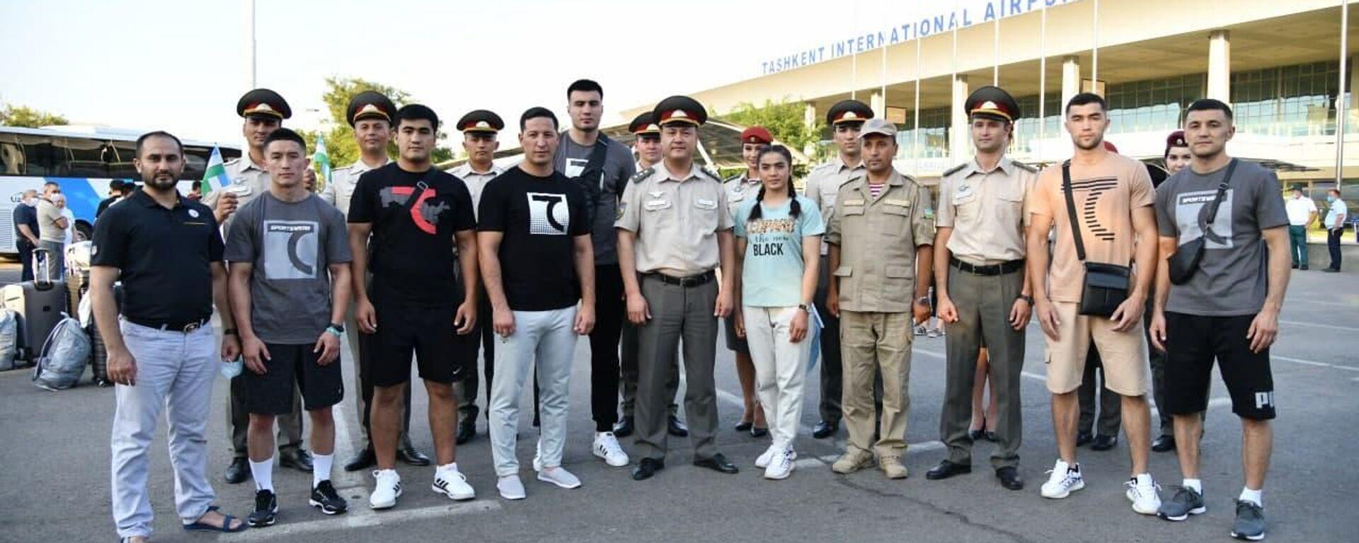 Узбекские боксёры отбыли в Токио - Sputnik Узбекистан, 1920, 05.07.2021