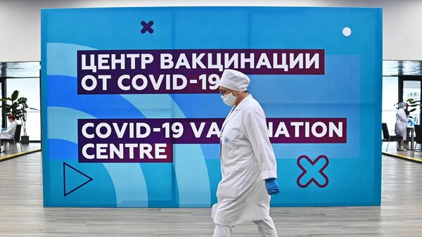 Tsentr vaktsinatsii ot COVID-19 na stadione Lujniki - Sputnik Oʻzbekiston