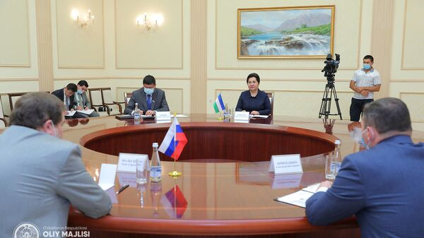 Глава Сената Узбекистана Танзила Нарбаева провела встречу с послом РФ в Узбекистане Олегом Мальгиновым - Sputnik Узбекистан