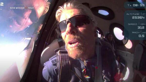Ричард Брэнсон совершил полет в космос - Sputnik Узбекистан