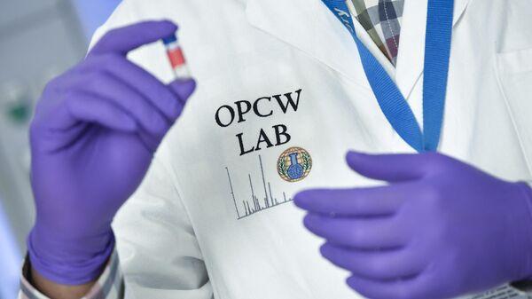 Лаборант в штаб-квартире ОЗХО в Гааге - Sputnik Узбекистан