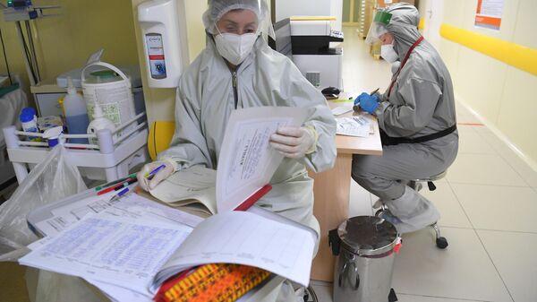 Госпиталь для лечения больных Covid-19 - Sputnik Ўзбекистон