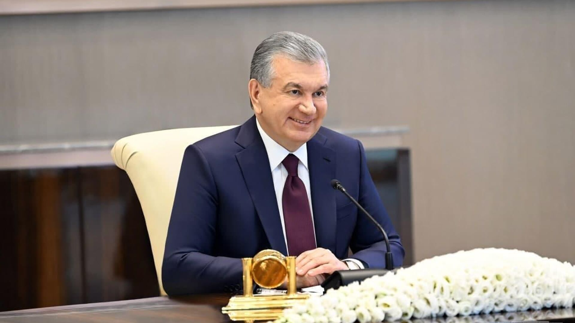 Президент Узбекистана Шавкат Мирзиёев принял члена Государственного совета, министра иностранных дел Китайской Народной Республики Ван И - Sputnik Узбекистан, 1920, 24.07.2021