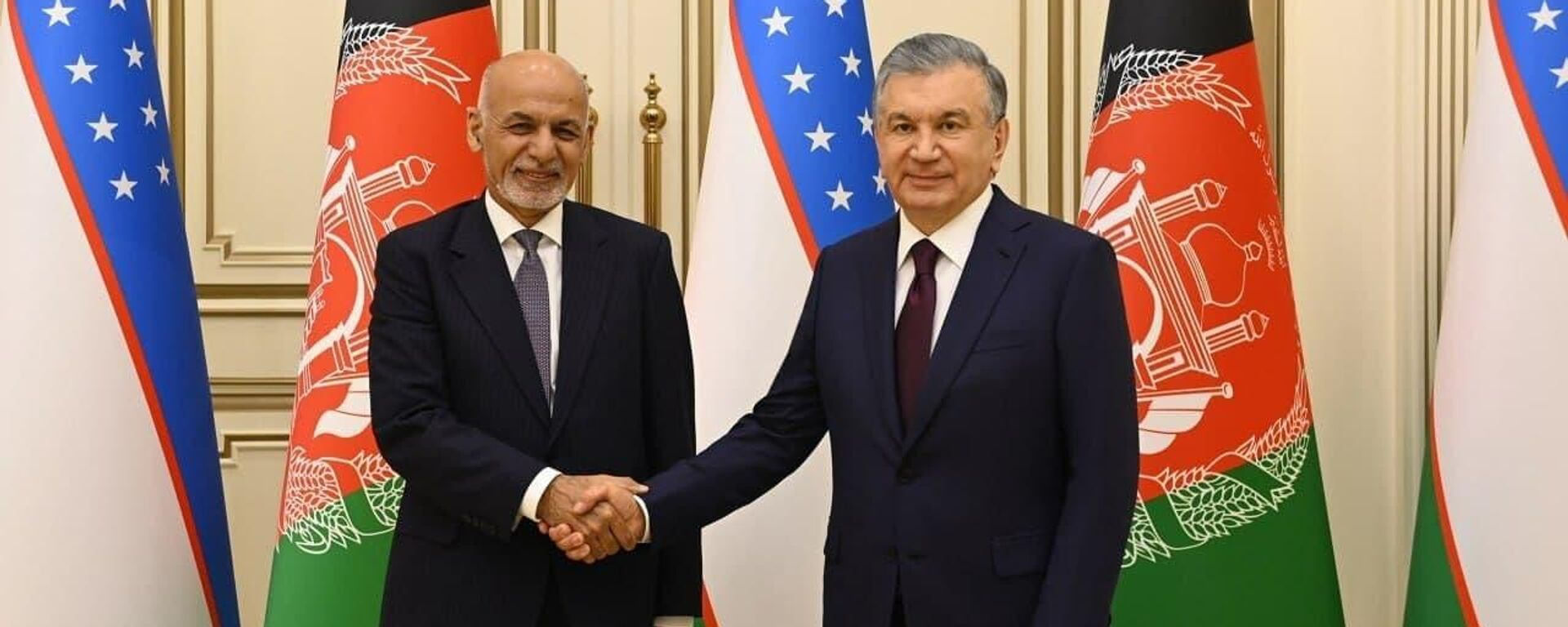 Президент Республики Узбекистан Шавкат Мирзиёев 15 июля встретился с Президентом Исламской Республики Афганистан Ашрафом Гани - Sputnik Узбекистан, 1920, 15.07.2021