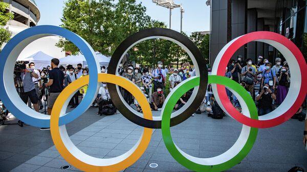 Олимпийские кольца, Токио - Sputnik Ўзбекистон