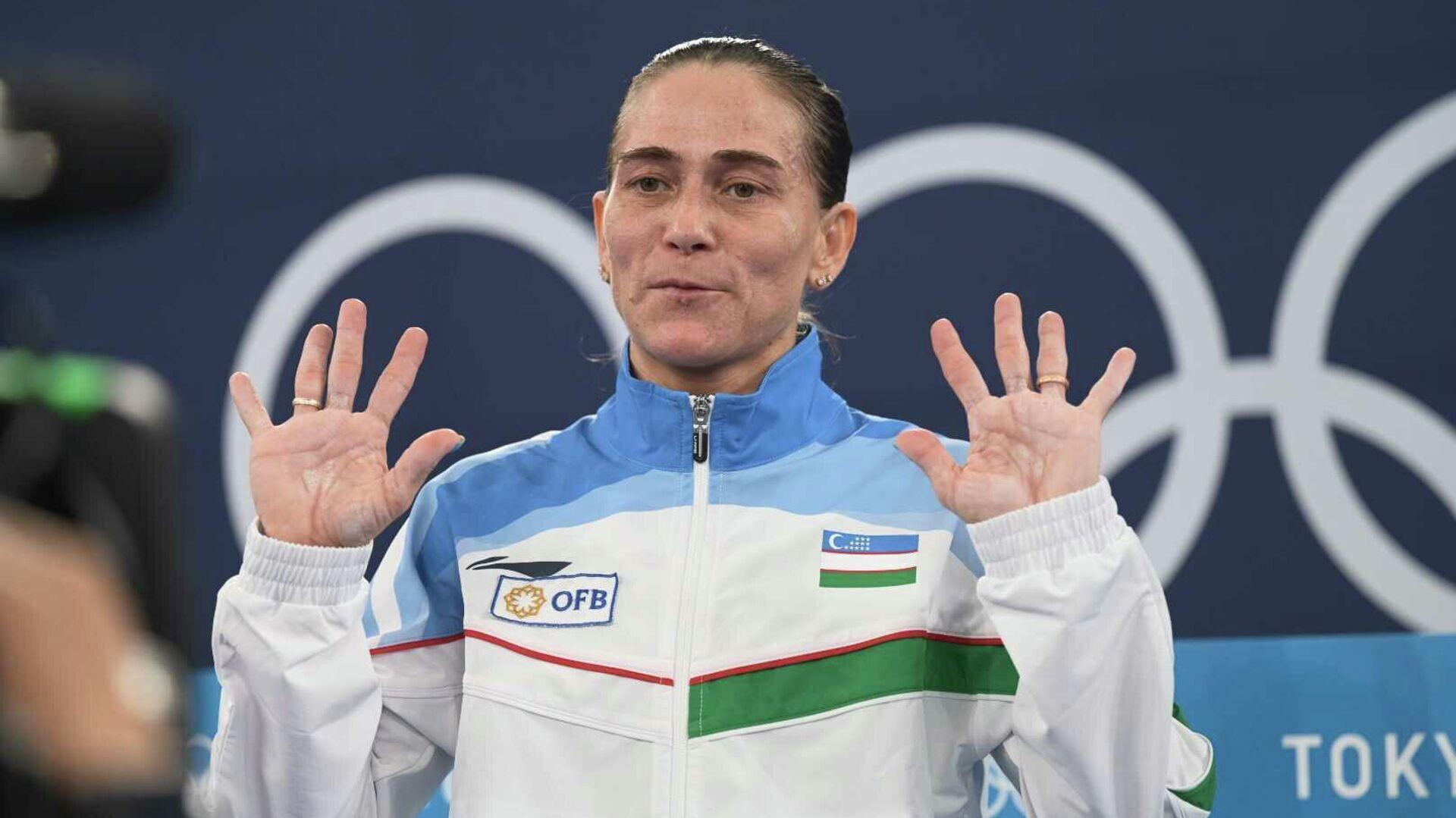 Гимнастка Оксана Чусовитина прощается со спортом после восьмой Олимпиады в карьере - Sputnik Узбекистан, 1920, 02.09.2021