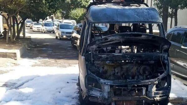 В Ташкенте сгорела маршрутка - Sputnik Узбекистан