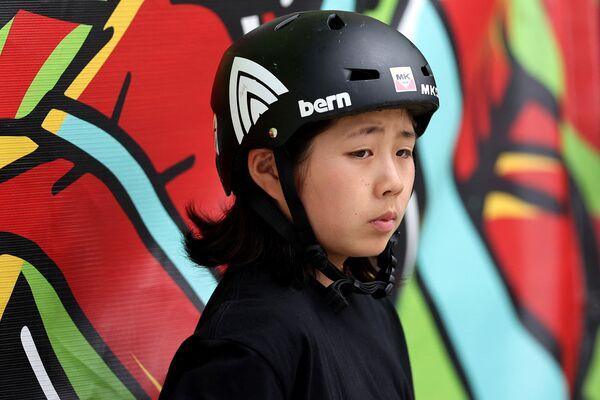 Япониялик скейтбордчи Мисугу Окамото (15 ёш) - Sputnik Ўзбекистон