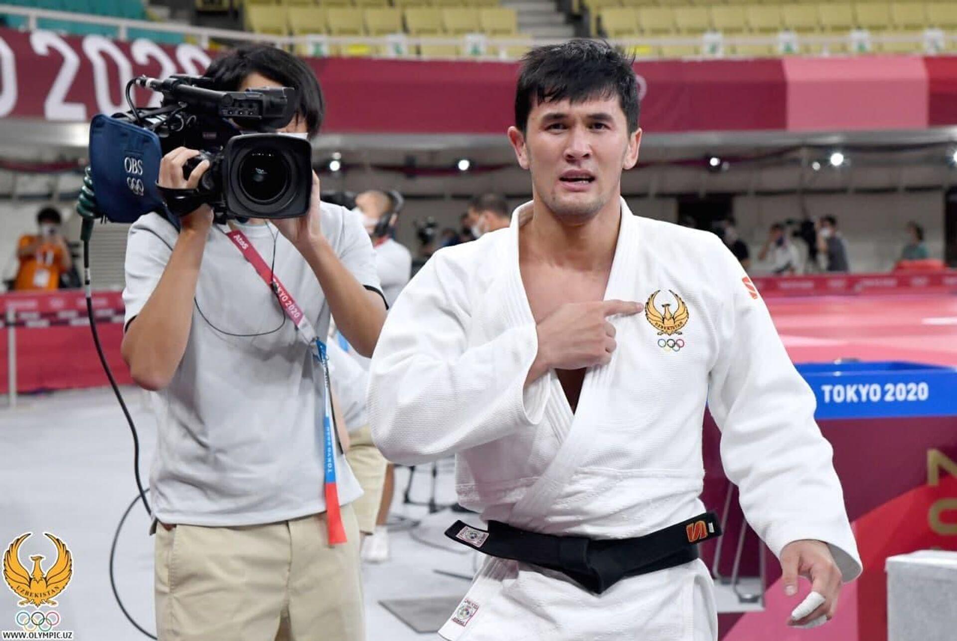 Давлат Бобонов завоевал первую медаль сборной Узбекистана по дзюдо на Олимпийских играх Токио-2020 - Sputnik Узбекистан, 1920, 08.08.2021