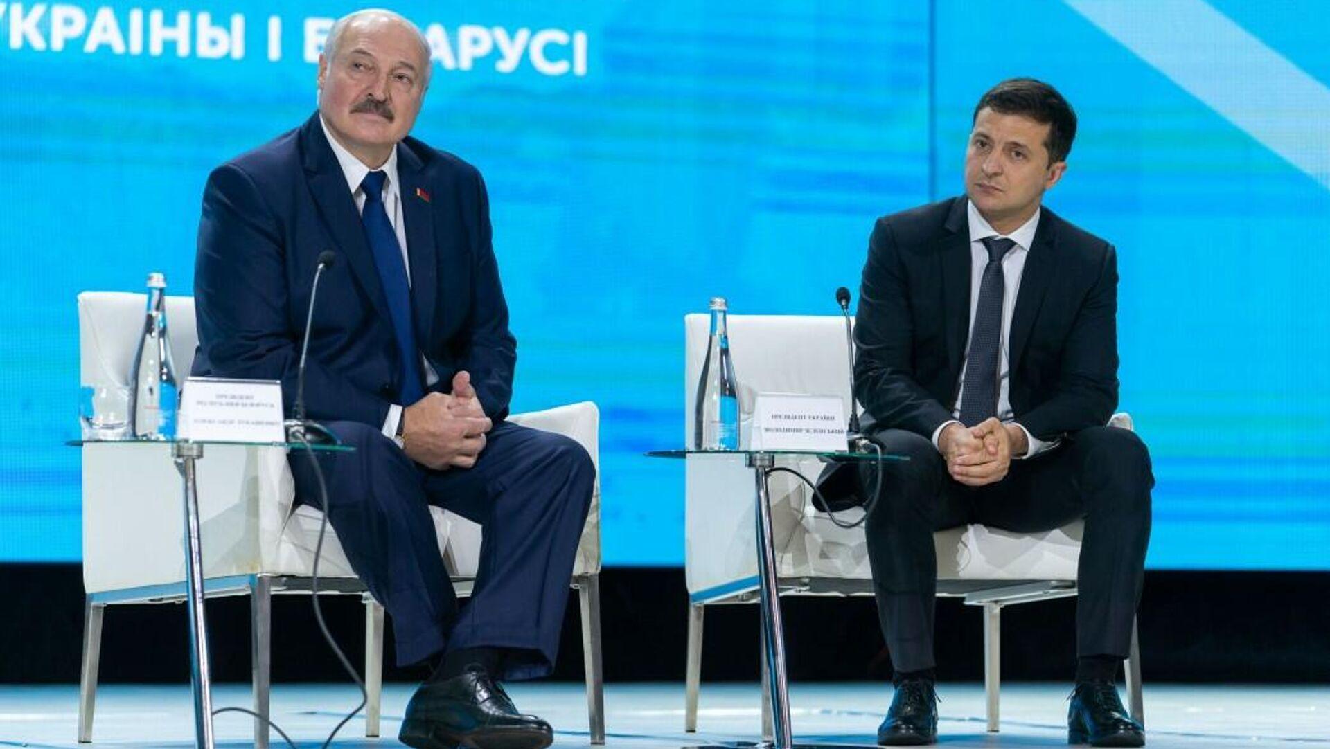 Президент Беларуси Александр Лукашенко и президент Украины Владимир Зеленский  - Sputnik Узбекистан, 1920, 30.07.2021