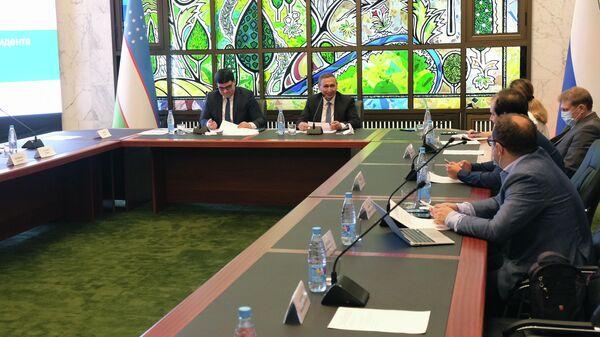Брифинг в посольстве Узбекистана в Москве в связи с началом избирательной кампании - Sputnik Узбекистан