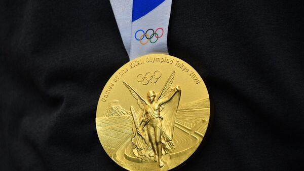 Zolotaya medal na XXXII letnix Olimpiyskix igrax v Tokio, - Sputnik Oʻzbekiston