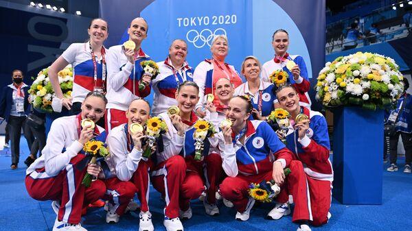 Olimpiada-2020. Sinxronnoy plavaniye. Gruppa. Proizvolnaya programma - Sputnik Oʻzbekiston