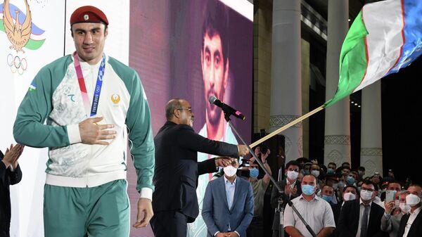 Vstrecha olimpiyskoy sbornoy Uzbekistana v Tashkente posle Igr v Tokio - Sputnik Oʻzbekiston
