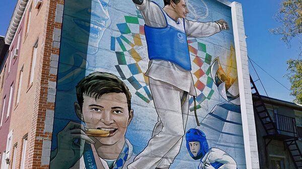 Граффити со спортсменами-олимпийцами в Ташкенте  - Sputnik Ўзбекистон