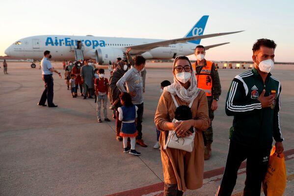 Капитан женской сборной Афганистана по баскетболу на колясках Nilofar Bayat в Испании, 20 августа 2021 года. - Sputnik Узбекистан