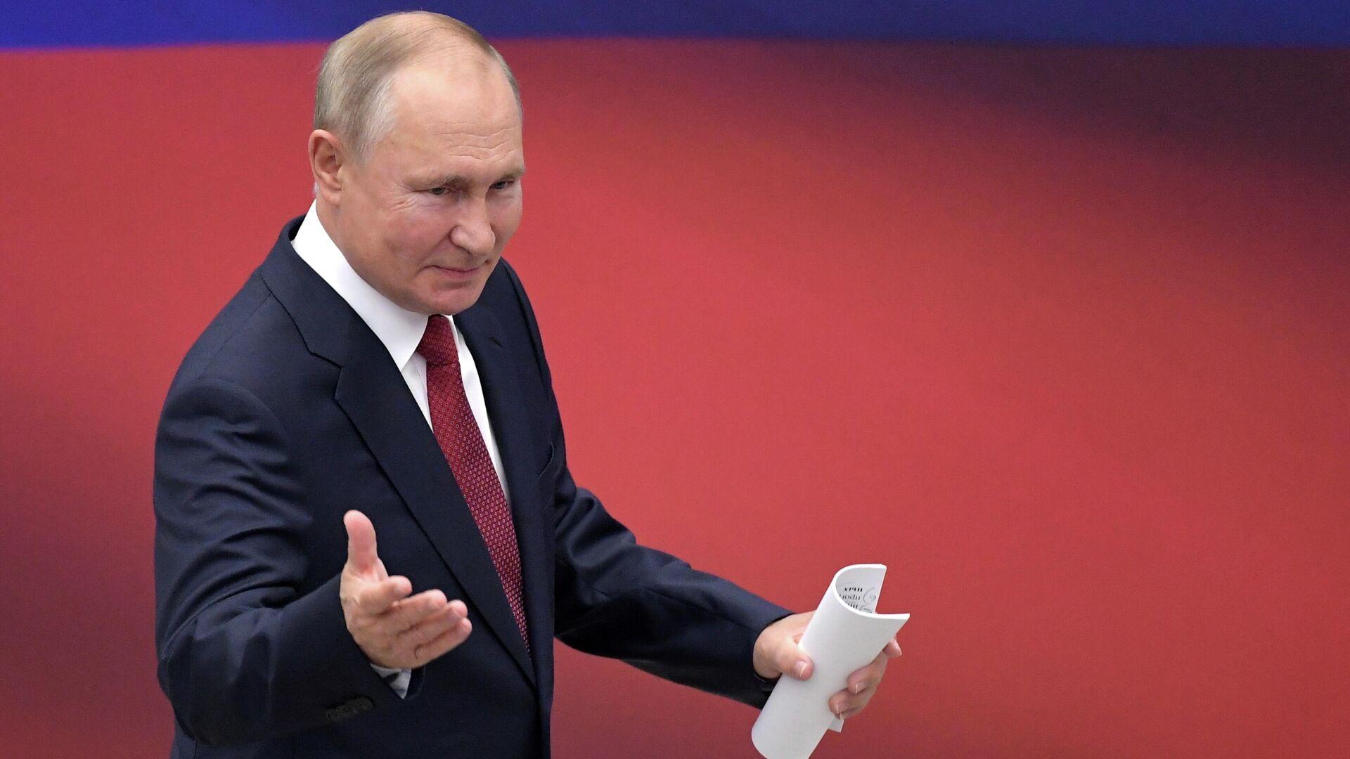 Президент России Владимир Путин - Sputnik Узбекистан, 1920, 01.09.2021