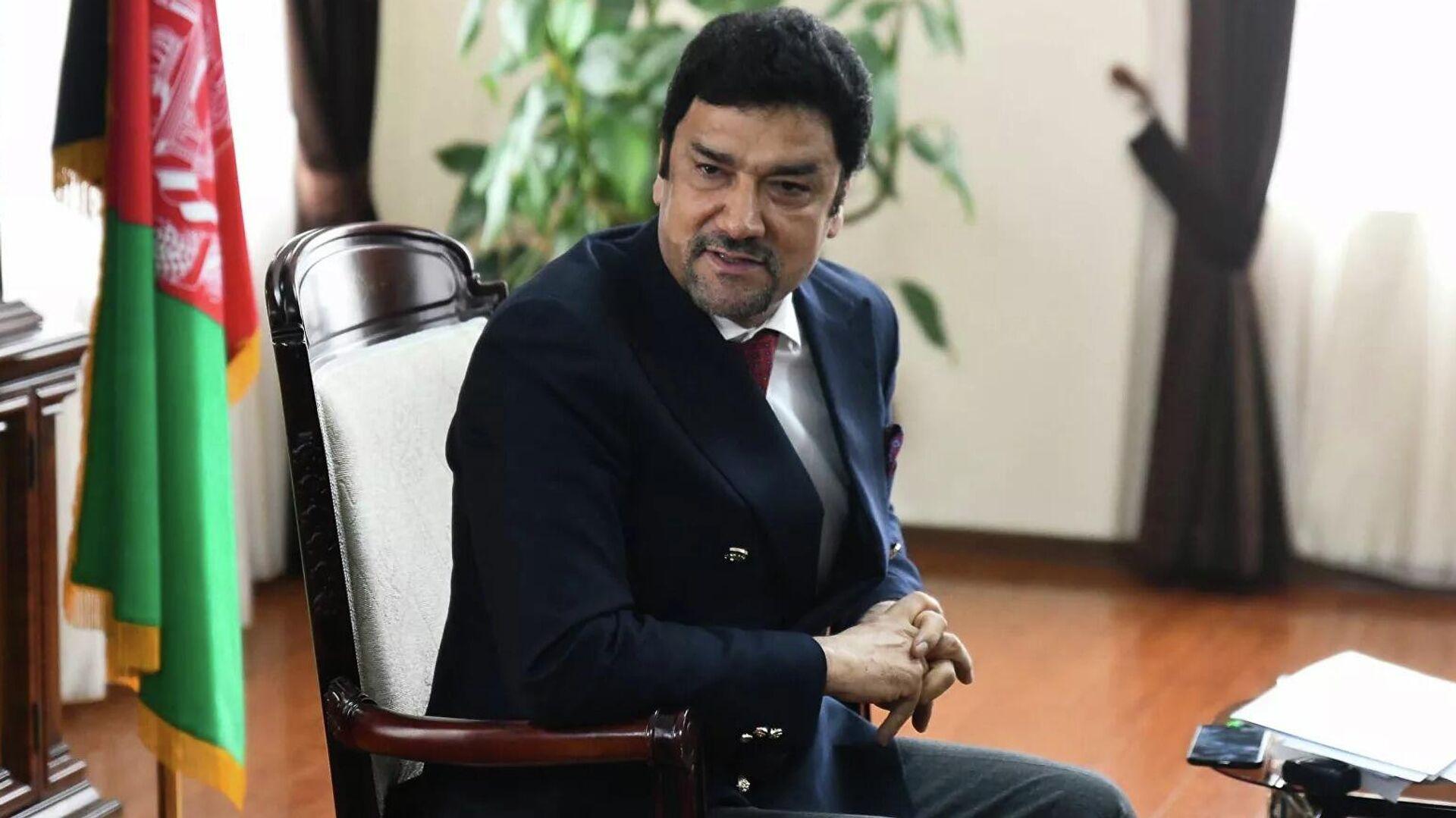 Посол Афганистана в Таджикистане Мухаммад Зохир Агбар. - Sputnik Ўзбекистон, 1920, 01.09.2021