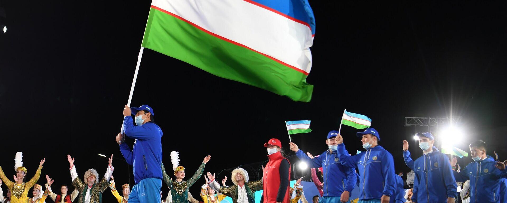 Представители команды Узбекистана на церемония открытия I Игр СНГ - Sputnik Ўзбекистон, 1920, 06.09.2021