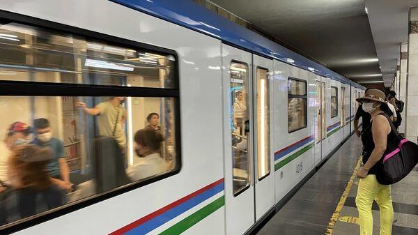 В столичной подземке запущены в эксплуатацию новые поезда - Sputnik Ўзбекистон