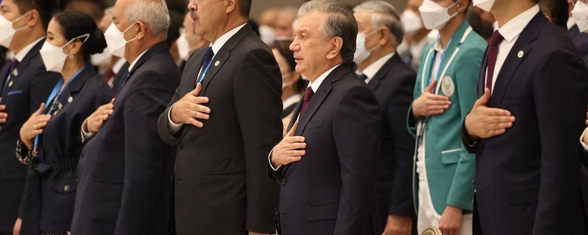 Шавкат Мирзиёев на съезде ЎзЛиДеп  - Sputnik Узбекистан, 1920, 09.09.2021