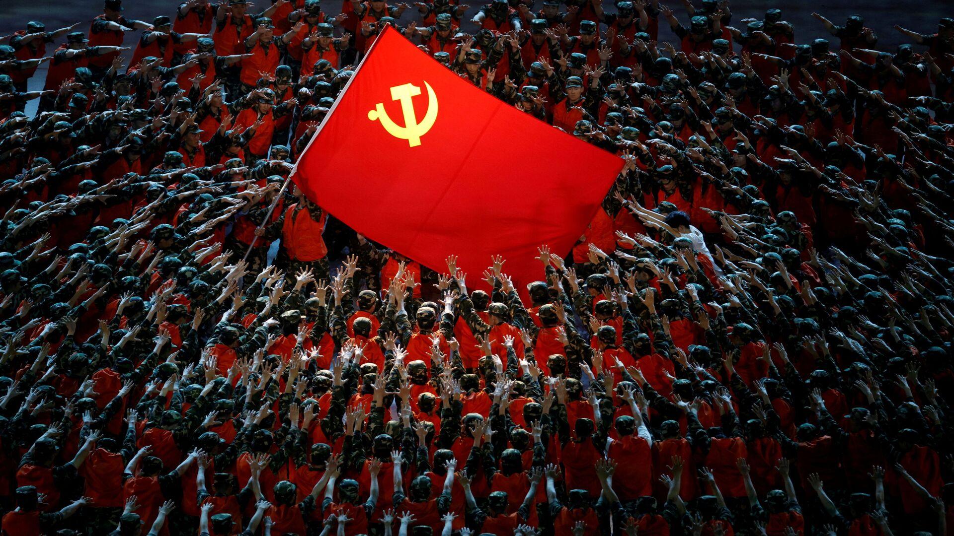 Шоу в честь 100-летия Коммунистической партии Китая в Пекине - Sputnik Узбекистан, 1920, 10.09.2021