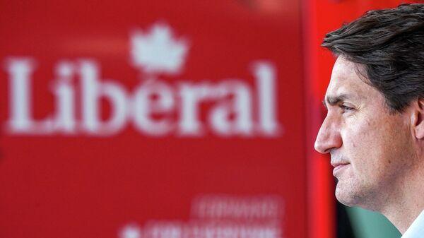 Премьер-министр Канады Джастин Трюдо во время предвыборной кампании - Sputnik Узбекистан