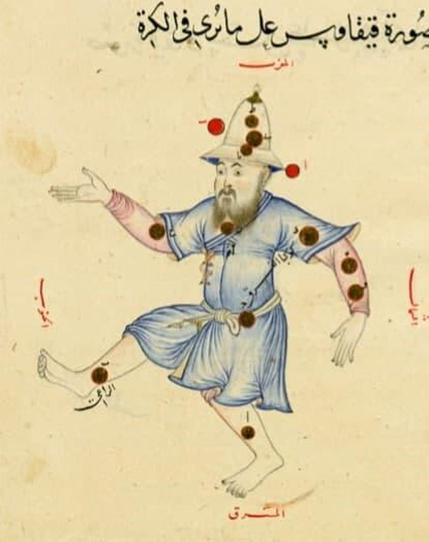 Миниатюра с изображением Мирзо Улугбека в виде созвездия Цефея - Sputnik Узбекистан, 1920, 13.09.2021
