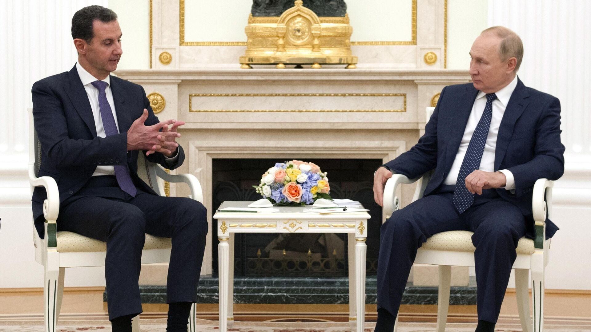 Vstrecha prezidenta RF V. Putina s prezidentom Sirii B. Asadom - Sputnik Oʻzbekiston, 1920, 14.09.2021