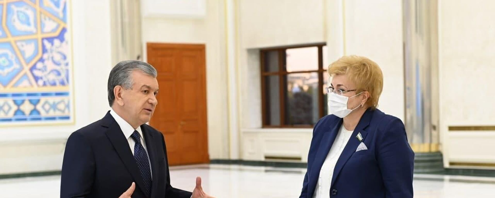 Президент Узбекистана Шавкат Мирзиёев на презентации итогов развития хирургической службы - Sputnik Узбекистан, 1920, 14.09.2021