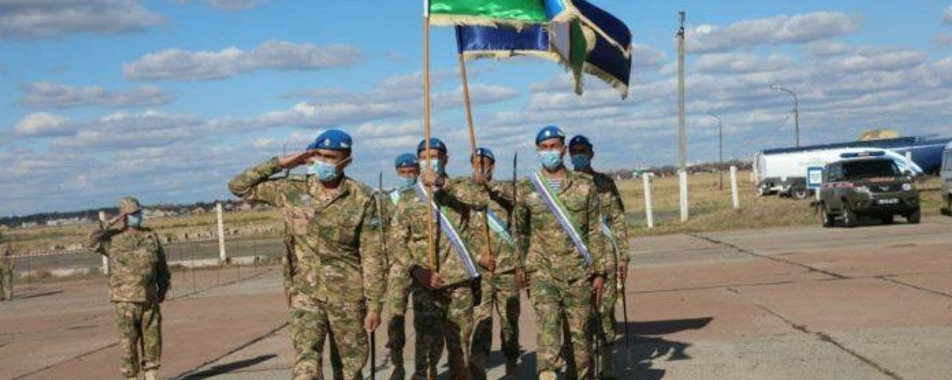 Военные Узбекистана прибыли на полигон Донгуз в Оренбуржской области на учения ШОС - Sputnik Узбекистан, 1920, 14.09.2021