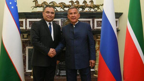 Министр инновационного развития Узбекистана Иброхим Абдурахмонов встретился с Президентом Татарстана Рустамом Миннихановым - Sputnik Узбекистан