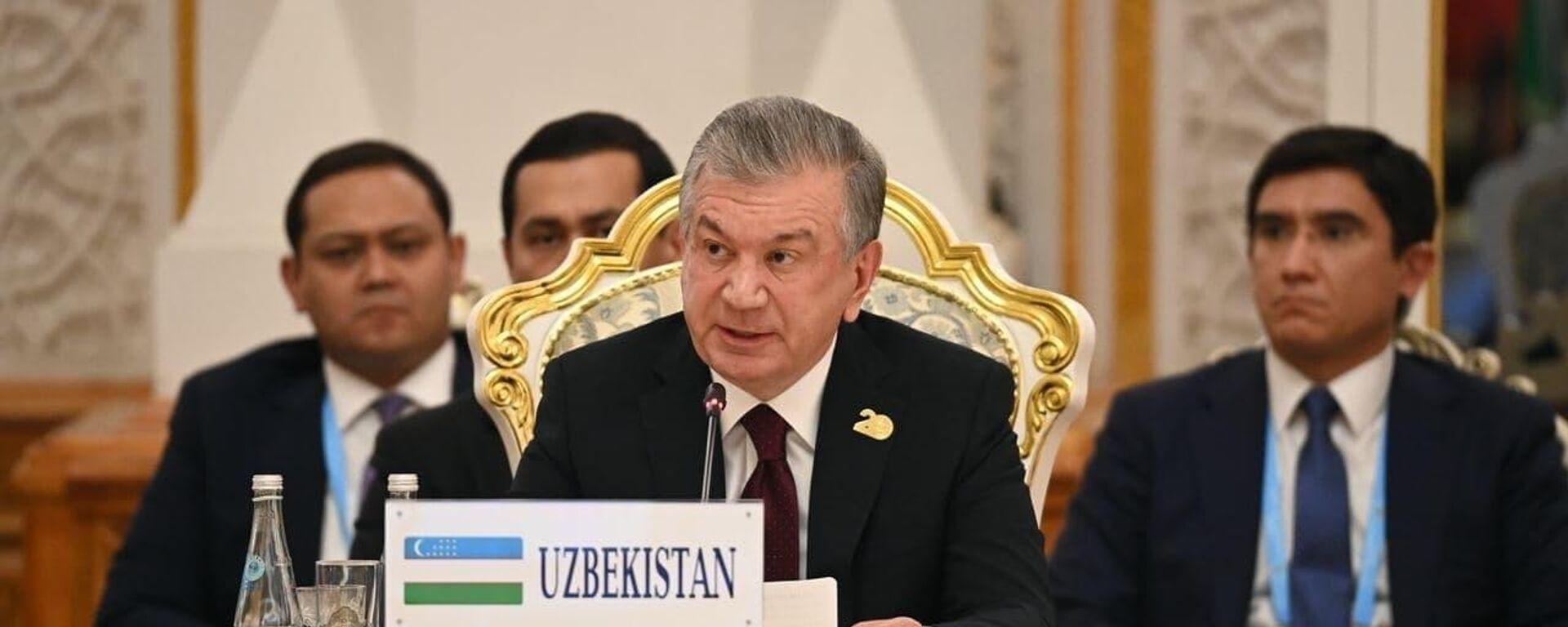 Shavkat Mirziyoyev na sammite SHOS - Sputnik Oʻzbekiston, 1920, 17.09.2021