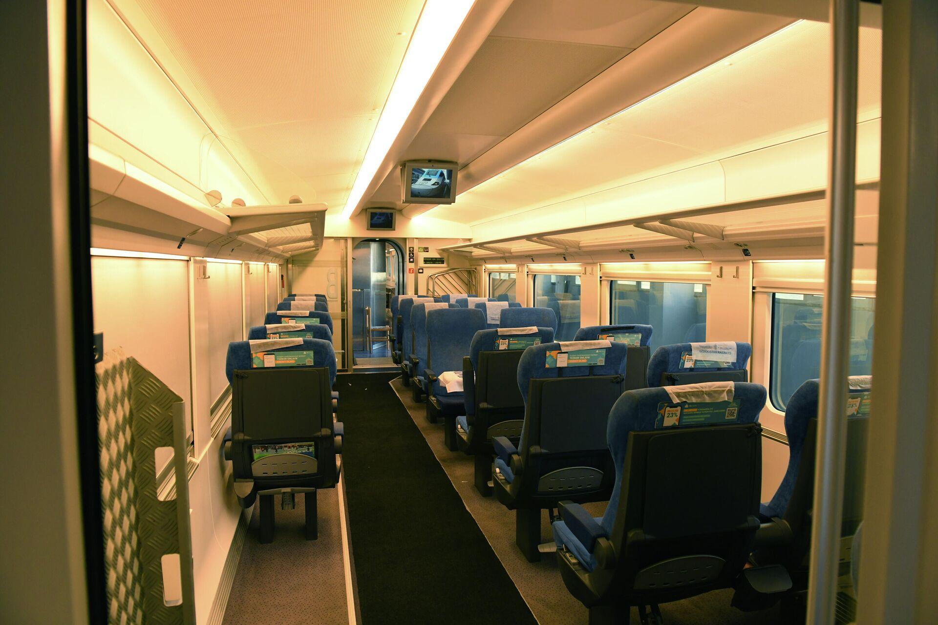 Узбекистан закупил новый поезд Afrosiyob - Sputnik Узбекистан, 1920, 17.09.2021