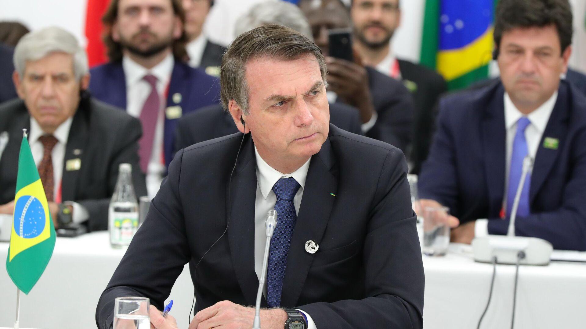 Prezident Brazilii Jair Bolsonaru - Sputnik Oʻzbekiston, 1920, 21.09.2021