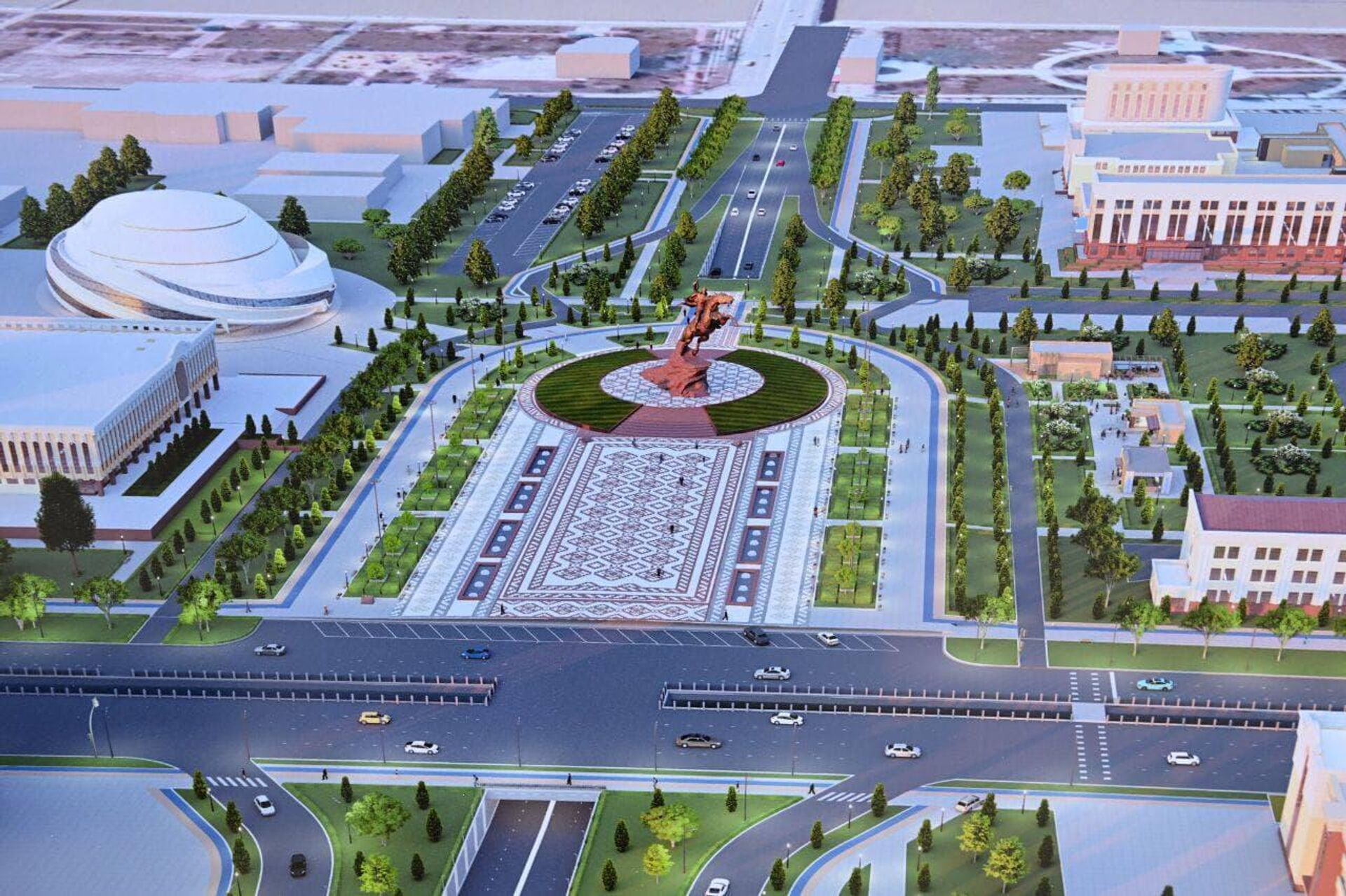 Проект комплекса Джалолиддина Мангуберды - Sputnik Узбекистан, 1920, 22.09.2021