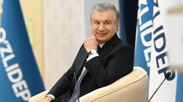 Шавкат Мирзиёев на предвыборной агитации в Хиве - Sputnik Узбекистан