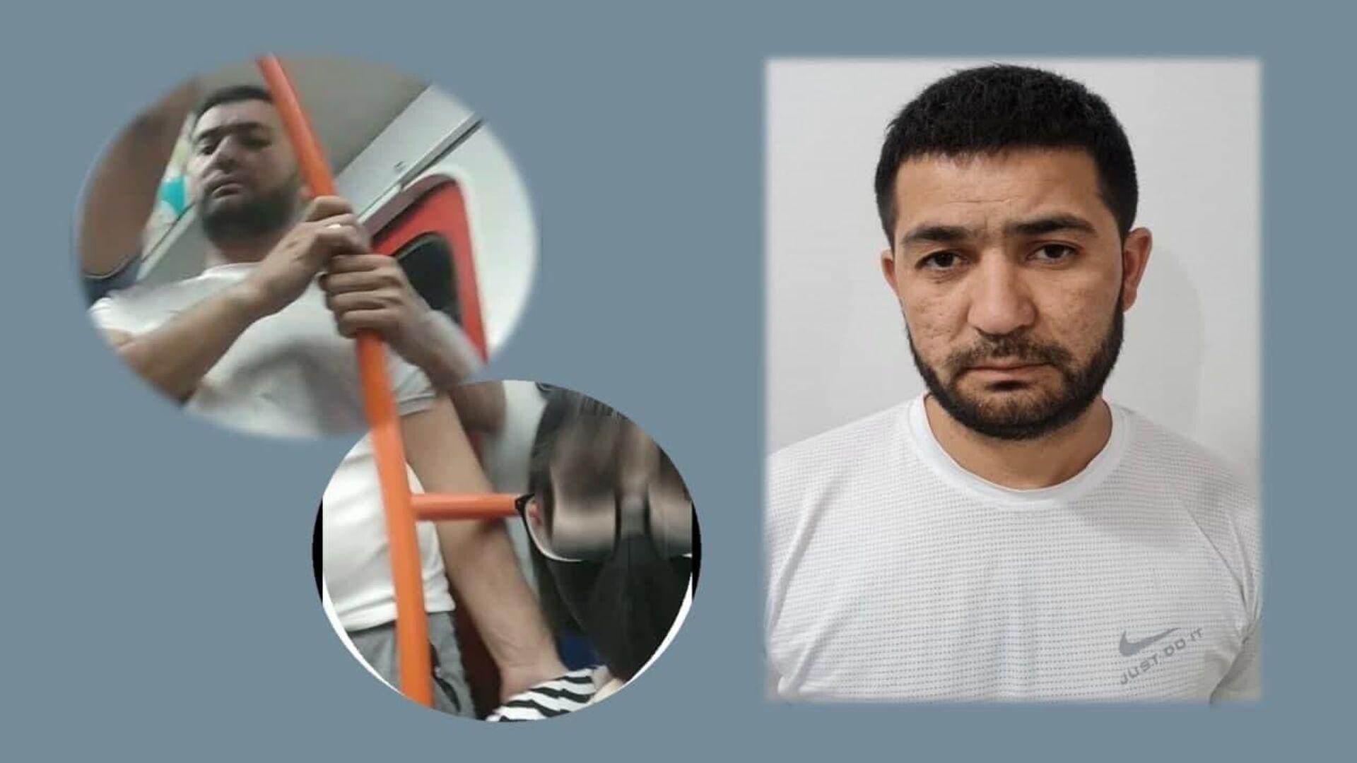 Мужчина, пристававший к подростку в ташкентском метро, сентябрь, 2021 год - Sputnik Узбекистан, 1920, 23.09.2021
