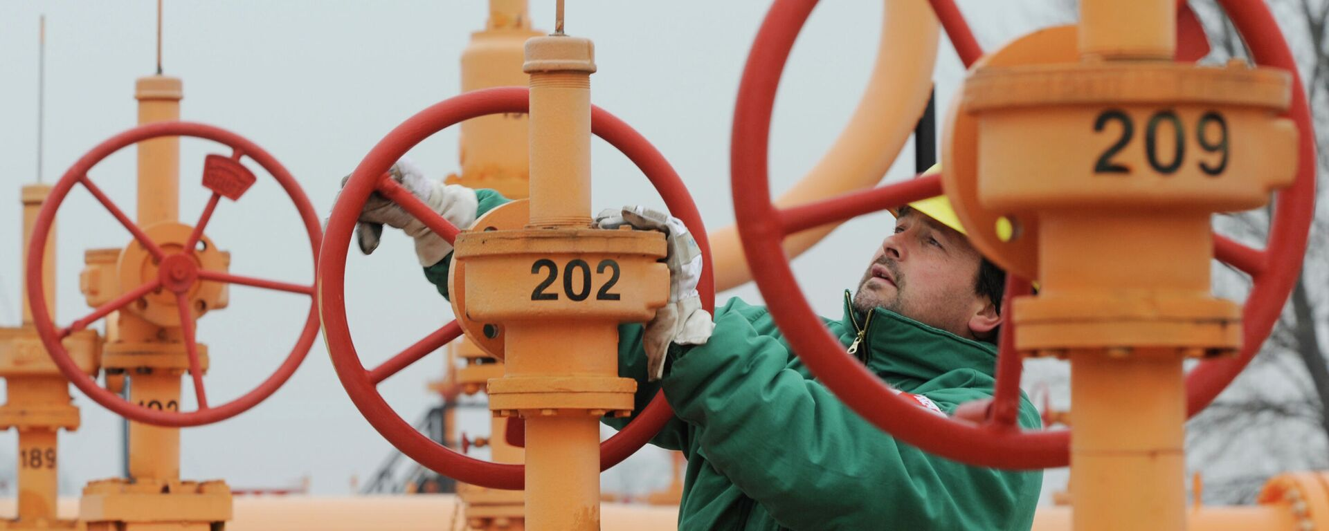 Рабочий на газовом хранилище в Будапеште - Sputnik Узбекистан, 1920, 24.09.2021