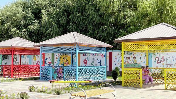 Церемония открытия детского сада в Риштанском районе Ферганской области - Sputnik Ўзбекистон