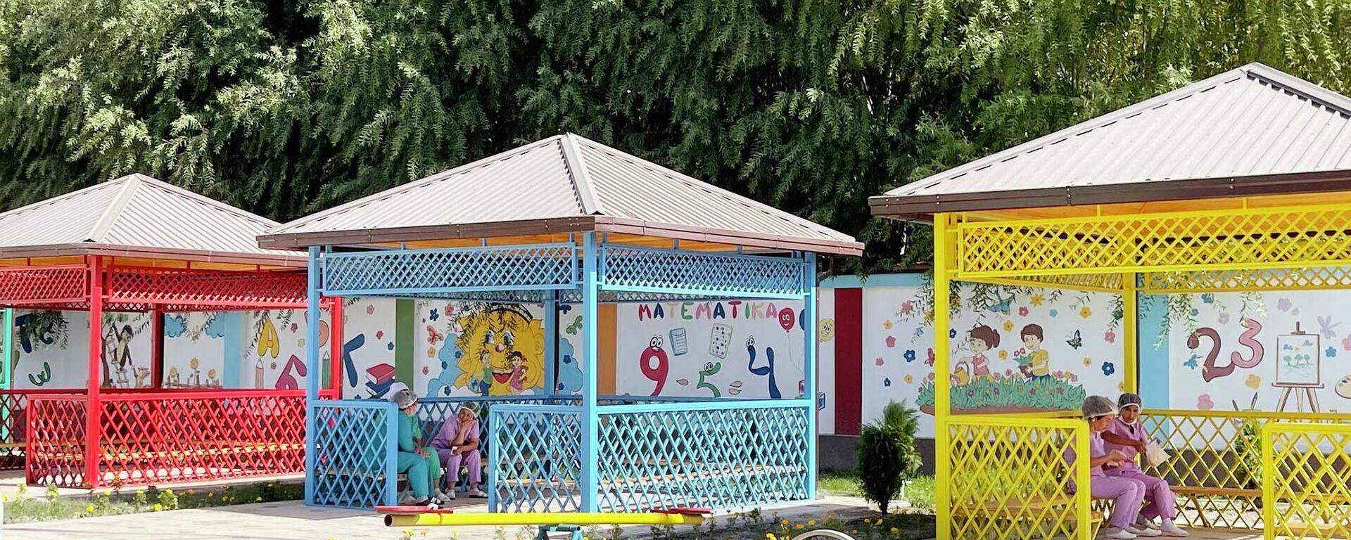 Церемония открытия детского сада в Риштанском районе Ферганской области - Sputnik Ўзбекистон, 1920, 24.09.2021