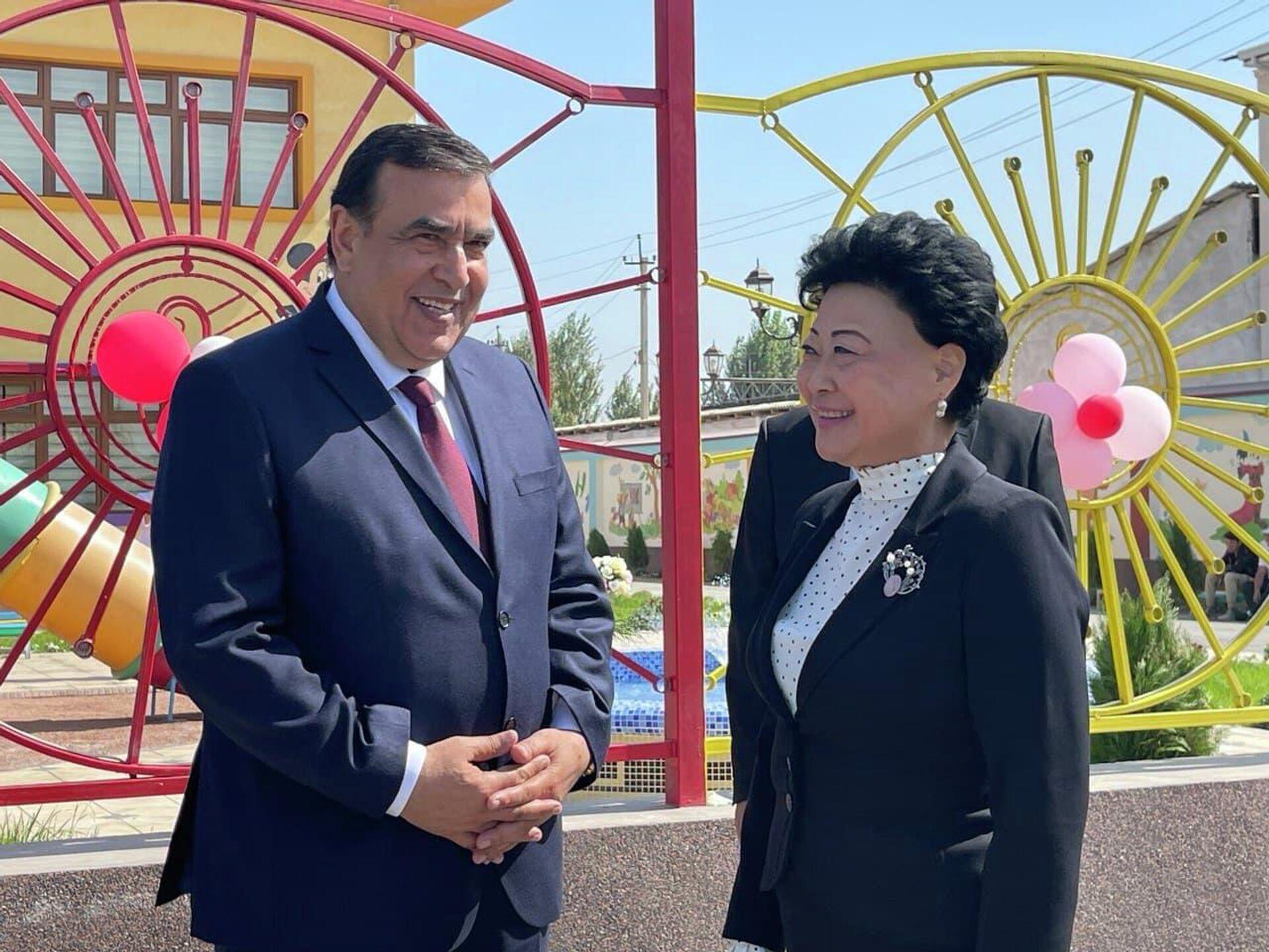 Церемония открытия детского сада Капалак в Риштанском районе Ферганской области  - Sputnik Узбекистан, 1920, 26.09.2021