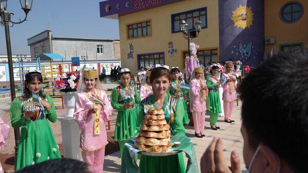 Tseremoniya otkrыtiya detskogo sada Kapalak v Rishtanskom rayone Ferganskoy oblasti  - Sputnik Oʻzbekiston